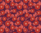 Mulberry Bloom - Red by Sara B. from Camelot Fabrics