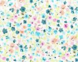 Flower Fields - Flower Pink Aqua from Lecien Fabric