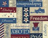 Seasonal Basics - Patriotic Pride of America Signs from Springs Creative Fabric