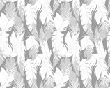 Sparkle Glitter - Feather Silver Glitter Metallic from Quilter's Palette Fabric