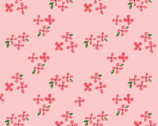 Blossom Poplin - Blossoms Pink  from Monaluna Fabric