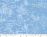 Forest Frost Glitter Favorites- Scenic Light Blue from Moda Fabrics