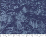 Forest Frost Glitter Favorites - Scenic Dark Blue from Moda Fabrics