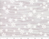 Forest Frost Glitter Favorites - Snowflakes Cloud Grey Tan from Moda Fabrics