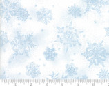 Forest Frost Glitter Favorites - Snowflake Snowfall Icicle Light Blue from Moda Fabrics