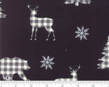 Holiday Lodge - Reindeer Forest Charcoal Black by Deb Strain from Moda Fabrics