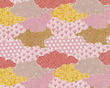 Moon Rabbit - Clouds Coral Pink from Paintbrush Studio Fabrics