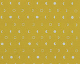 Indah Batiks - Moons Mustard Metallic by Me and You from Hoffman Fabrics