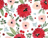Winter Woods - Floral White by Sara Berrenson from Camelot Fabrics