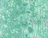 Shiny Objects - Sweet Somethings Floral Silver Metallic by Flaurie and Finch  from RJR Fabrics