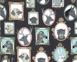 Little Animal Portraits - Meta from Michael Miller Fabric