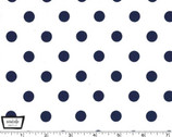 That's It Dot - Sailor Navy on White from Michael Miller Fabric