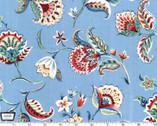 Kashmir Gardens - Arabesque Blue from Michael Miller Fabric