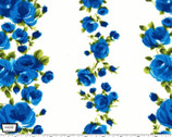 Charming By Gertie - Divine Rose Vine Sapphire from Michael Miller Fabric
