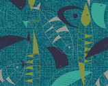 Fish Hope - Teal Fish from Paintbrush Studio Fabric