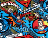 A Job For Superman FLEECE by DC Comics from Camelot Fabrics