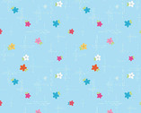 Simply Happy - Dash Floral Blue by Dodi Poulsen from Riley Blake Fabric