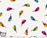 Lovey Dovey - Little Love Doves Rainbow from Michael Miller Fabrics