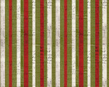 Merriment - Christmas Tripe Green Red from Free Spirit Fabric