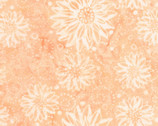 Tonga Batik Buttercream - Flower Sunflower Angel Peach from Timeless Treasures Fabrics