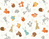 Forest - Animal Scatter Cream from Makower UK Fabric