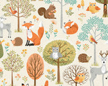 Forest - First Scene Cream from Makower UK Fabric