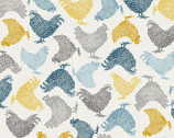 Grove - Chickens Cream from Makower UK Fabric