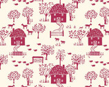 The Cottage Garden - Cottage Lane Red from Liberty London Fabrics