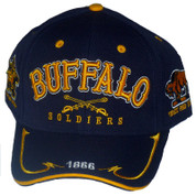 BUFFALO SOLDIERS BLUE BASEBALL CAP