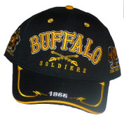BUFFALO SOLDIERS BLACK BASEBALL CAP