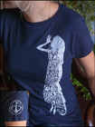 Lady Print - Women's T-Shirt - Navy