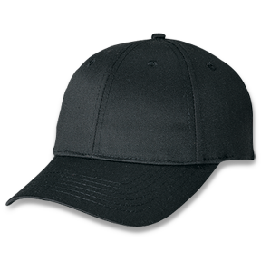 Black Polycotton Cap