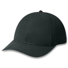 Black Heavyweight Brushed Cotton Drill Cap
