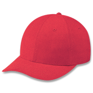 Red - Heavyweight Cotton Cap | Hatsandcaps.ca
