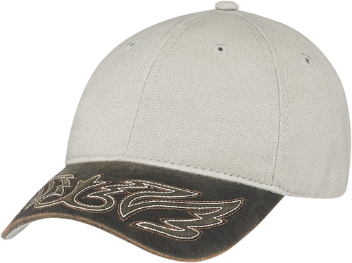 Dark Brown/Taupe Constructed Full-Fit Western Cap