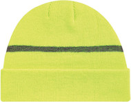 Safety Green/Reflective Safety Acrylic Cuff Toque