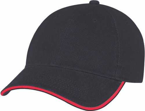 Black/Red Heavyweight Cotton Constructed Full-Fit Cap