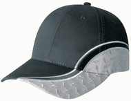 Black/Diamond Plate Poly/Cotton Constructed Contour Diamond Plated Cap
