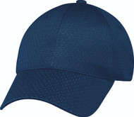 Navy Jersey Mesh Constructed Full-Fit Cap