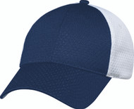 Navy/White Jersey Mesh Constructed Full-Fit Cap