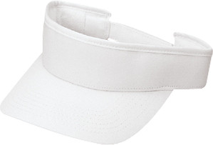 White Deluxe Blended Chino Twill Visor