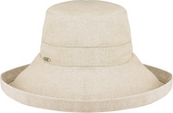 Taupe 9L000L Ladies Deluxe Cotton Wide Brim Style Hat | Hatsandcaps.ca