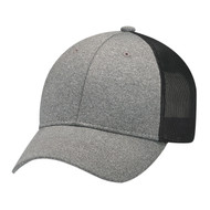 Charcoal/Washed Black - 4H647M Polyester Heather Cap | Hats&Caps.ca