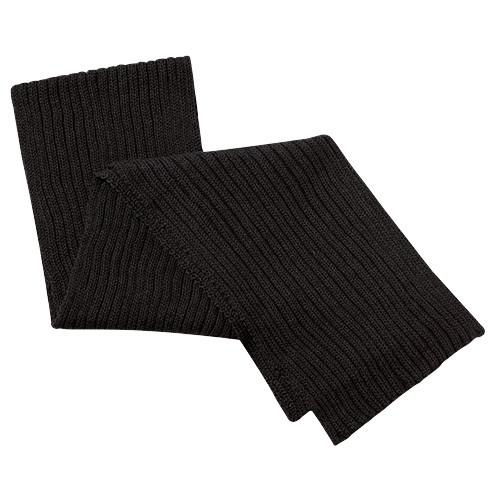 9Z650M Acrylic Scarf Chunky Rib Knit Black