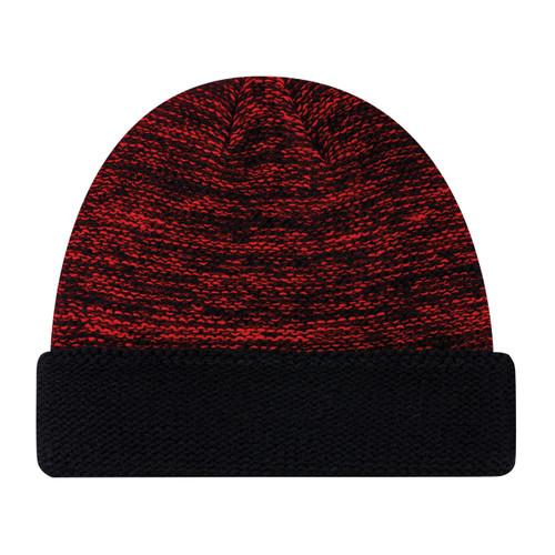 9U557M Acrylic Cuff Toque Black/Red