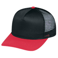 5808M Polycotton / Nylon Mesh Black/Red