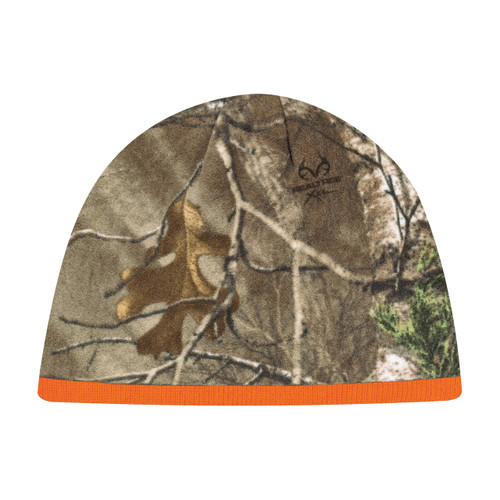6Q038M Printed Polyester Micro Fleece / Acrylic -Realtree - APS® :: XTRA® Toque Realtree Xtra/Fluorescent Orange