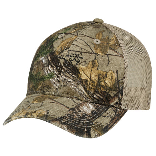 6Y837M Enzyme Washed Brushed Polycotton / Soft Nylon Mesh Realtree XTRA® Cap Realtree/Tan