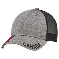 4H337M 6 Panel Constructed Full-Fit (Canada, Mesh Back) | Hatsandcaps.ca
