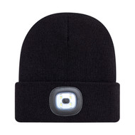 Black - 9X539M Acrylic Cuff Toque with LED Light | Hats&Caps.ca